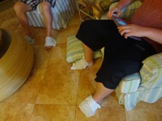 Owww...sunburned feet