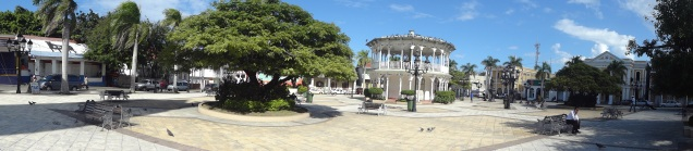 The square in Puerto Plata