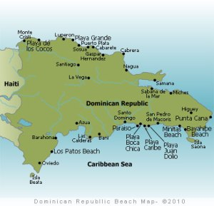 Map of DR beaches