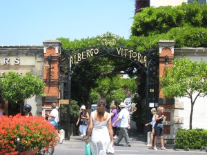 We had lunch at the Grand Hotel Excelsior Vittoria-absolutely beautiful inside & out