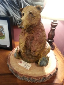Bear sculpture