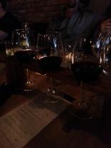 Flight of red wines