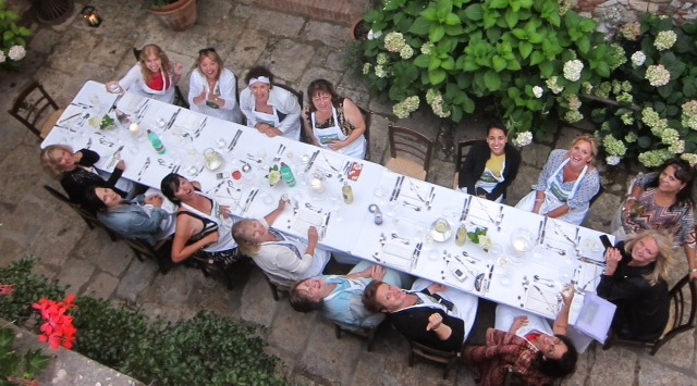 Enjoying with friends! Photo from Debbie Travis's Tuscan Girls Getaway